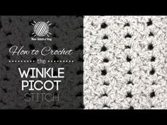 How To Crochet The WINKLE PICOT STITCH — From: http://newstitchaday.com/how-to-crochet-the-winkle-picot-stitch/