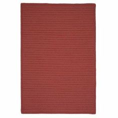 """Simply Home Solid Terracotta Braided Rug Rug Size: 11' x 14' by Colonial Mills. $1072.34. H104R132X168S Rug Size: 11' x 14' Features: -Technique: Braided.-Material: 100pct Polypropylene.-Origin: USA.-Reversible.-Stain resistant.-Fade resistant. Construction: -Construction: Hand guided. Dimensions: -Pile height: 0.5"""".-Overall Dimensions: 34-168'' Height x 22-132'' Width x 0.5'' Depth. Collection: -Collection: Simply Home Solid."""