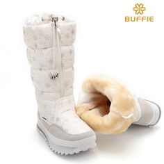32.13$  Watch more here - http://ai2lx.worlditems.win/all/product.php?id=32686384824 - 2017 new winter high women boots plush warm lady shoe plus size 35 to 42 easy wear zipper up girl white colour flower snow boots