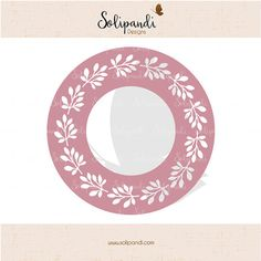 Circle monogram frame  wreath  SVG Cut Files   by SolipandiDesigns