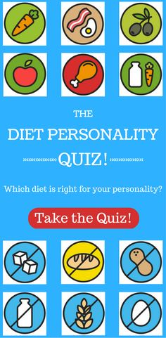 Take our quiz to find out which diet works best with your personality!