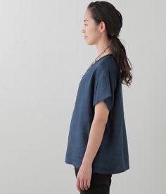c7592394dc Julie Top  Blue Nuit + Nuit – Shop Fog Linen