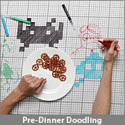 Doodle table cloth