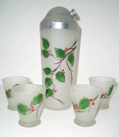 Vintage Cocktail Shaker Set | christmas holiday themed cocktail shaker set $ 148 00 this is a ...