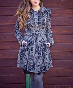 This Black Luxury Problems Coat by Nick & Mo is perfect! #zulilyfinds