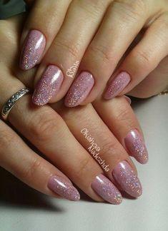 Winter Nails, Spring Nails, Summer Nails, Cute Nail Art Designs, Gel Nail Designs, Rose Gold Nails, Nude Nails, Manicure, Pink Nail Polish