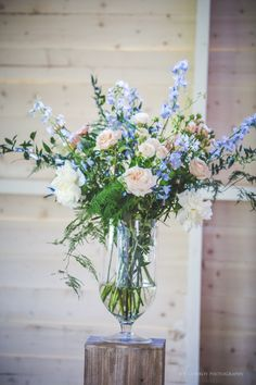 Flowers (by Bella Botanica) in our Tabernacle barn, a beautiful setting for a humanist ceremony or drinks reception. Photography by Joe Conroy Photography Glass Vase, Reception, Barn, Gardens, Invitations, Table Decorations, Drinks, Flowers, Photography
