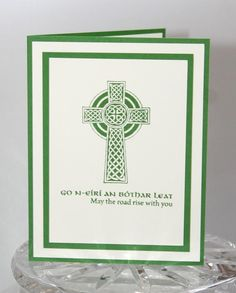 247 best cards st patricks day irish celtic images on celtic cross may the road rise irish blessing thinking of you greeting card m4hsunfo