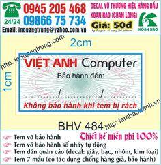 In tem bảo hành - In Quang Trung: Công ty in tem bảo hành tại hà nội giá 50đ