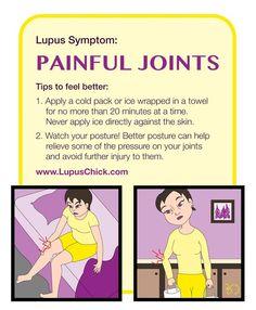 Painful Joints • via LupusChick Zinger Shot Recipe • July 2, 2015 • Marisa Zeppieri & Jorge Martins •  #lupus