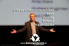 Über den Unterschied zwischen Rede – Vortrag – Referat – Präsentation:http://www.schlosser.info/unterschied-rede-vortrag-referat-praesentation/