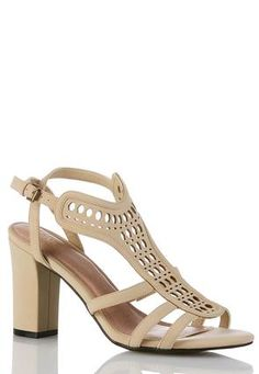 Cato Fashions Wide Width Strappy Panel Sandals #CatoFashions