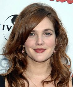 View yourself with Drew Barrymore hairstyles and hair colors. View styling steps and see which Drew Barrymore hairstyles suit you best. Medium Brown Hair Color, Brown Hair Colors, Hair Colours, Lip Colors, Hair Styles 2014, Curly Hair Styles, Drew Barrymore Hair, Long Hair Tips, Dull Hair