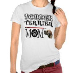 Border Terrier mom T-shirts dog