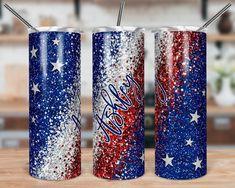 Diy Tumblers, Custom Tumblers, Glitter Tumblers, Clear Tumblers, Acrylic Tumblers, Glitter Cups, Blue Glitter, Stainless Steel Straws, Tumbler Cups
