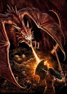Dragons nest ~ by Anne Stokes