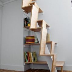 Small Usable Attic Space Stairs Design