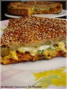 Absolutely but absolutely necessary, imperative: Tourte-Burger - The culinary world of Meriem . I Love Food, Good Food, Yummy Food, Pizza Burgers, Quiches, Omelettes, Salty Foods, Ramadan Recipes, Snacks