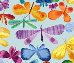 Whimsical Butterfly Whirl by stitchyrichie