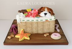 Billy and His Basket by Laura Loukaides Gold Award - Cake International - Birmingham NEC 2016