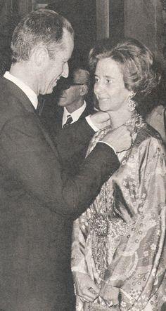 très belle complicité du Roi Baudouin et la Reine Fabiola (1978)