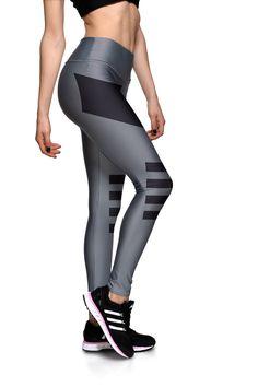 Two Stripe Fitness Leggings (Black 8be79073612c5