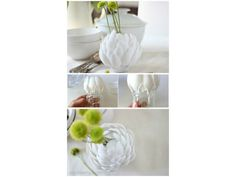 his post is aimed for you to make use of your plastic spoons in the most creative way possible. So, go on and check this incredible collection of DIY Amazing Plastic Spoon Crafts That Will Fascinate You. Plastic Spoon Crafts, Plastic Spoons, Plastic Vase, Easy Diy Crafts, Crafts To Do, Diy Flowers, Flower Vases, Spoon Flower, Fleurs Diy