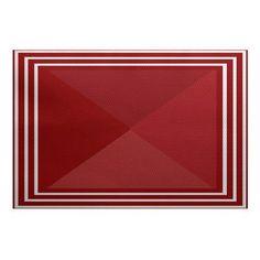 Breakwater Bay Bartow Red Indoor/Outdoor Area Rug Rug Size: 4' x 6'