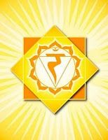 "Solar Plexus Chakra: ""Manipura""  Location: Between navel and base of sternum  Color: Yellow  Element: Fire  Mantra: Ram  Meditation: I do  Affirmations: I move toward my goals smoothly and enjoyably. I fully step into my power and use it in service of love and light.  Related to: Power, will, and action  Asana: Sun salutations, warriors, eagle, crow, boat, bow, revolved triangle, pyramid, twists & core strength  Breath: Breath of fire"