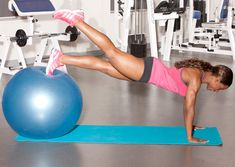 Great Glutes in 20 Minutes: 5. Stability Ball Push-Up w/ Hip Extension Cont'd