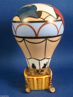 ROCHARD - Hot Air Balloon - Montgolfier - authentic FRENCH LIMOGES box