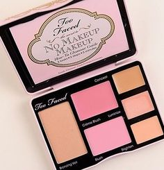 Too Faced The Secret To No Makeup Face Palette-Bronzer+Blush+Concealer-NIB