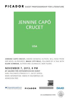 Public #Reading: Jennine Capó #Crucet will read in #Leipzig!