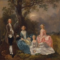 """""""John and Ann Gravenor, with their daughters"""" (c. 1754) by Thomas Gainsborough"""