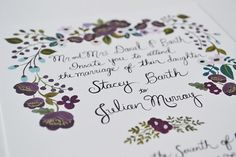 Wedding Stationery from Loft Life Press