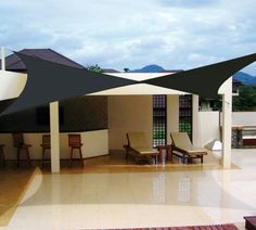 voiles d'ombrage toiles terrasse deco design