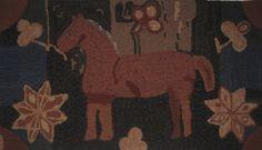 Folk Art Horse Magdalena Briner Woolleyfox Hooked by Louise Tietjen