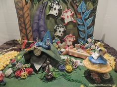 Alice in Wonderland themed chocolate sculpture at the 2012 Epcot International Food & Wine Festival.  Disney World.