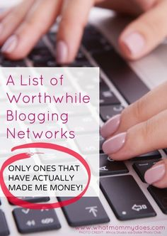 Useful blogging tips for busy bloggers - - Who has time to chase down all the ideas on your own?! I blog for extra money so I like to make my time on the computer count. Here's a list of worthwhile blogging networks...the ones that actually make me money!