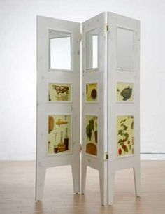 DIY mirrored room divider project found here. may have to do this if we're going to live in a studio...