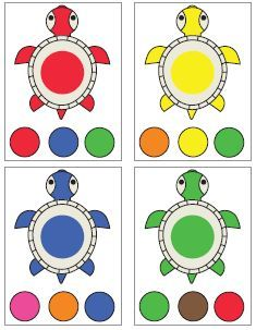 Color sorting and matching activities Matching Games For Toddlers, Art Activities For Toddlers, Preschool Learning Activities, Preschool Curriculum, Color Activities, Teaching Kids, Kids Learning, Kindergarten, Homeschool