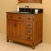 USA Made Brogan (single) 36-Inch -Single-Customizable Solid Cherry Wood Bath Vanity