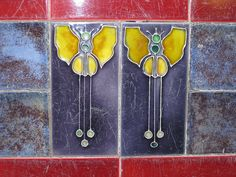 Art Nouveau Tiles of Butterflies - Thornbury by raaen99, via Flickr
