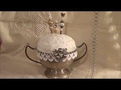 Vintage Style Pincushion #pincushion #diy pincushion #stick pin cushion