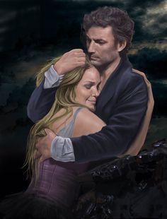 "Jonas Kaufmann and Kristine Opolais in royal opera house prodaction of ""Manon Leskaut"" Puccini"
