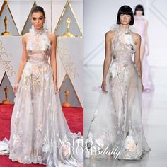 """4,116 Likes, 109 Comments - Fashion Bomb Daily (@fashionbombdaily) on Instagram: """"#HaileeSteinfeld wore a sheer flower embellished #RalphandRusso SS17 Couture gown to the #Oscars.…"""""""