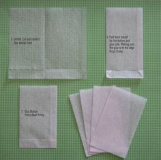 Tutorial: Make your own Dry Waxed Paper Bags