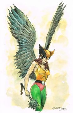 Hawkgirl - Ryan Kelly - 2015 Comic Art