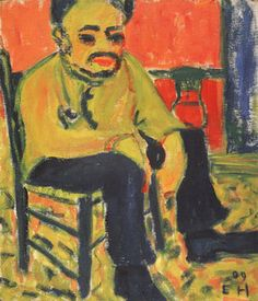 Painting Exhibition: Vincent van Gogh and Expressionism: Erich Heckel: Seated Man