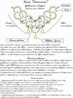 Фриволите с бисером. Схема колье. | biser.info - всё о бисере и бисерном творчестве